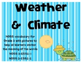 NGSS Weather and Climate vocabulary cards