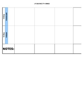 NGSS Weekly Planner