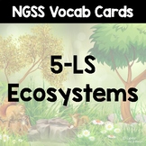 NGSS Word Wall Cards - Energy & Ecosystems (5-LS)