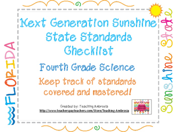 NGSSS Fourth Grade Science Standards Checklist
