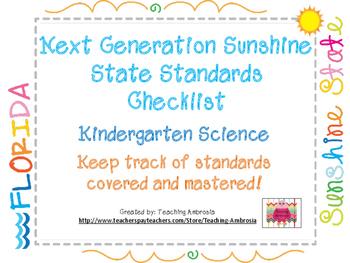 NGSSS Kindergarten Science Standards Checklist