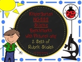KINDERGARTEN SCIENCE GOALS NOW WITH 2 SETS of RUBRICS AND