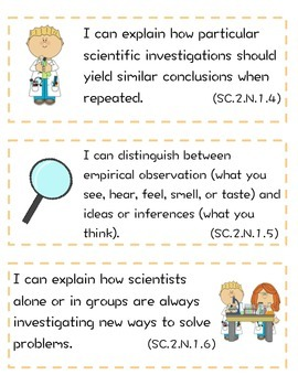 """NGSSS Science """"I Can"""" Statement"""