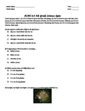 NGSSS Science Quiz-Earth and Space Science-Rocks, Earth, Planets