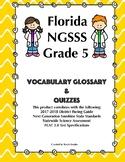 Science Vocabulary Glossary & Quiz : SSA & FCAT 2.0