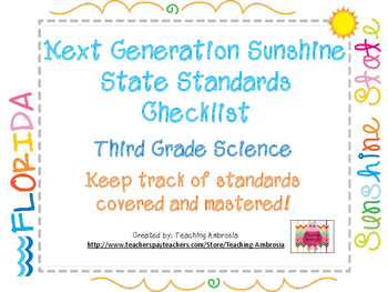 NGSSS Third Grade Science Standards Checklist