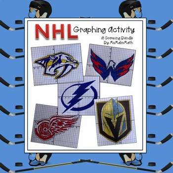NHL Coordinate Graphing Activity - A Growing Bundle