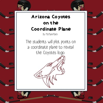 NHL Graphing Activity - Arizona Coyotes on a Coordinate Plane