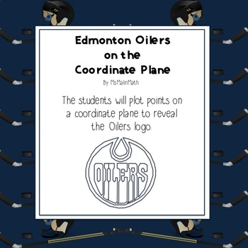 NHL Graphing Activity - Edmonton Oilers on a Coordinate Plane