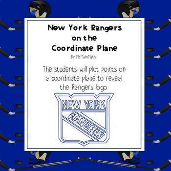 NHL Graphing Activity - New York Rangers on a Coordinate Plane