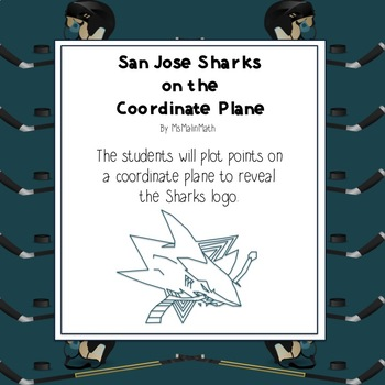 NHL Graphing Activity - San Jose Sharks on a Coordinate Plane
