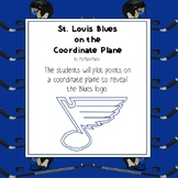 NHL Graphing Activity - St. Louis Blues on a Coordinate Plane
