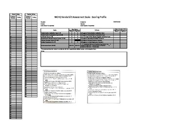 NICHQV Vanderbilt Assessment Scoring Assistant, Combined Parent Teacher Form