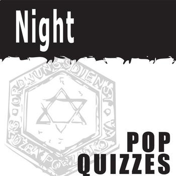 NIGHT 5 Pop Quizzes Bundle (by Elie Wiesel)