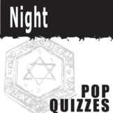 NIGHT 5 Pop Quizzes Bundle (by Elie Wiesel)