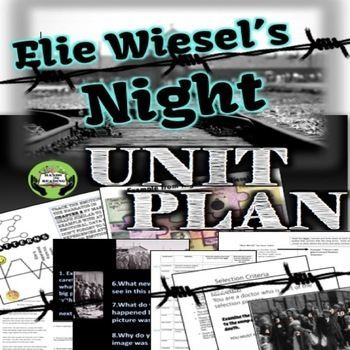 NIGHT Activities Unit Plan by Elie Wiesel