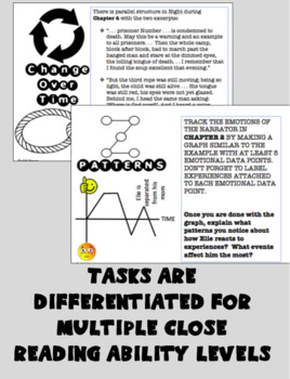 NIGHT - Elie Wiesel: Depth and Complexity Task Cards