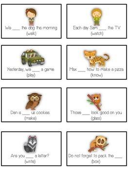 NIGHT SAFARI Inflectional Word Endings - ELA First Grade Game - Word Work Center