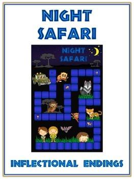 NIGHT SAFARI Inflectional Word Endings - ELA First Grade G