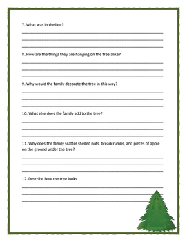 NIGHT TREE by Eve Bunting - Comprehension Questions