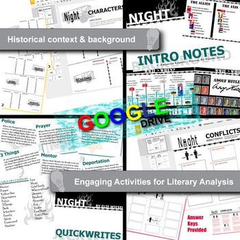NIGHT Unit Novel Study - Literature Guide (Print & Digital Included)