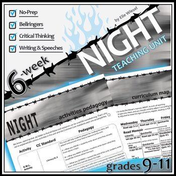 NIGHT by Elie Wiesel Unit Memoir Study - Literature Guide