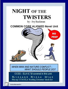 NIGHT OF THE TWISTERS Novel Study