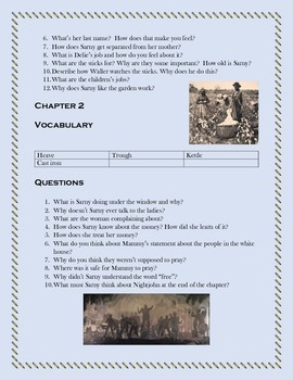 NIGHTJOHN by Gary Paulsen  Questions, Vocabulary, Movie Comparison Sheet