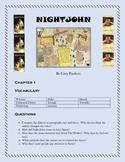 NIGHTJOHN by Gary Paulsen  Questions, Vocabulary, Movie Co