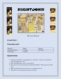 NIGHTJOHN by Gary Paulsen  Questions, Vocabulary, Movie Co