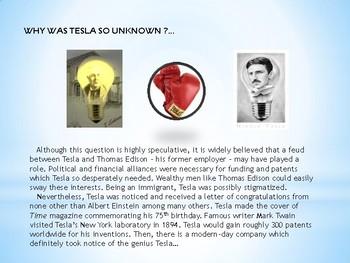 NIKOLA TESLA: THE UNKNOWN GENIUS (Article with worksheet)