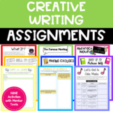 NINE Creative Writing Activities for the End of the Year