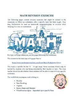 NINETY-SEVEN REVISION WORKSHEETS - ANSWERS SUPPLIED