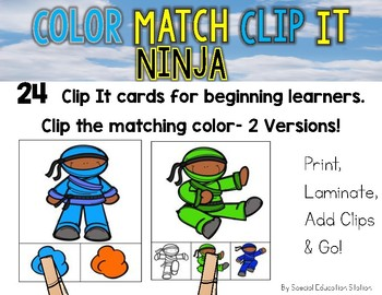NINJA Color Match Clip It {A Beginning Work Task)