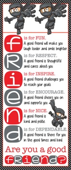 NINJA friends - Classroom Decor: LARGE BANNER, FRIENDS
