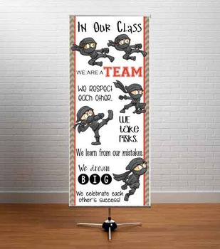 NINJA friends - Classroom Decor: LARGE BANNER, In Our Class