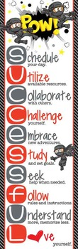 NINJA friends - Classroom Decor: XLARGE BANNER, How to be Successful