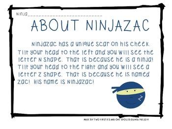 NINJAZAC Story & FREEBIE Sample For Boys {Sight Words, Fluency Ph., Prediction}