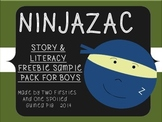 NINJAZAC Story & FREEBIE Sample For Boys {Sight Words, Flu