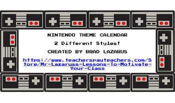 NINTENDO THEME BUNDLE- DESK NAMES, NAME TAGS, AND CALENDAR!!!!