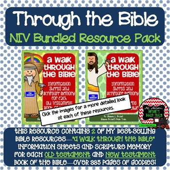 NIV Bible Verses, Background Info, and Student Response Sheets (School License)