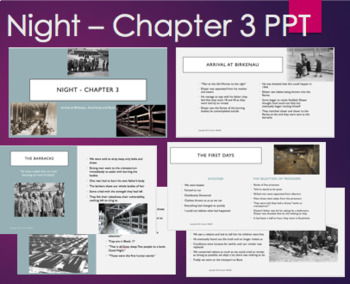 Night by Elie Wiesel- Chapter 3 PowerPoint with video clip on selection process