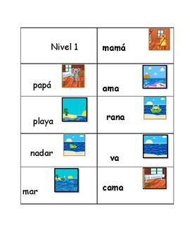 NIvel 1 Spanish Illustrated Flash cards