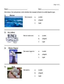NJ APA Assessment Science - Solid, Liquid Gas (CPI 5.6.4A3