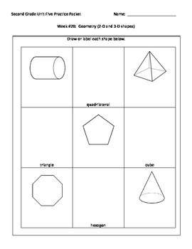 NJ Model Curriculum Second Grade Unit Five Practice Packet