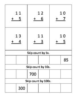 NJ Model Curriculum Second Grade Unit Three Practice Packet