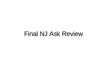 NJAsk Open Ended Review