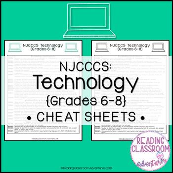 NJCCCS: Technology Grades 6-8 Cheat Sheets
