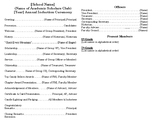 Induction Ceremony Program Template