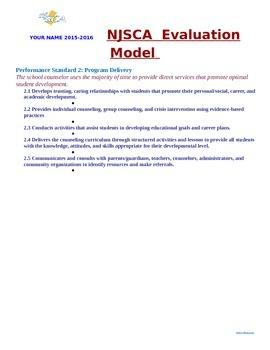 NJSCA Evaluation Model Organizational System